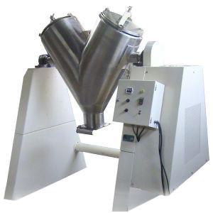 "MODELO MEZ-V100 Mezclador Tipo "" V"" con Sistema de Paletas y Atomizadores."